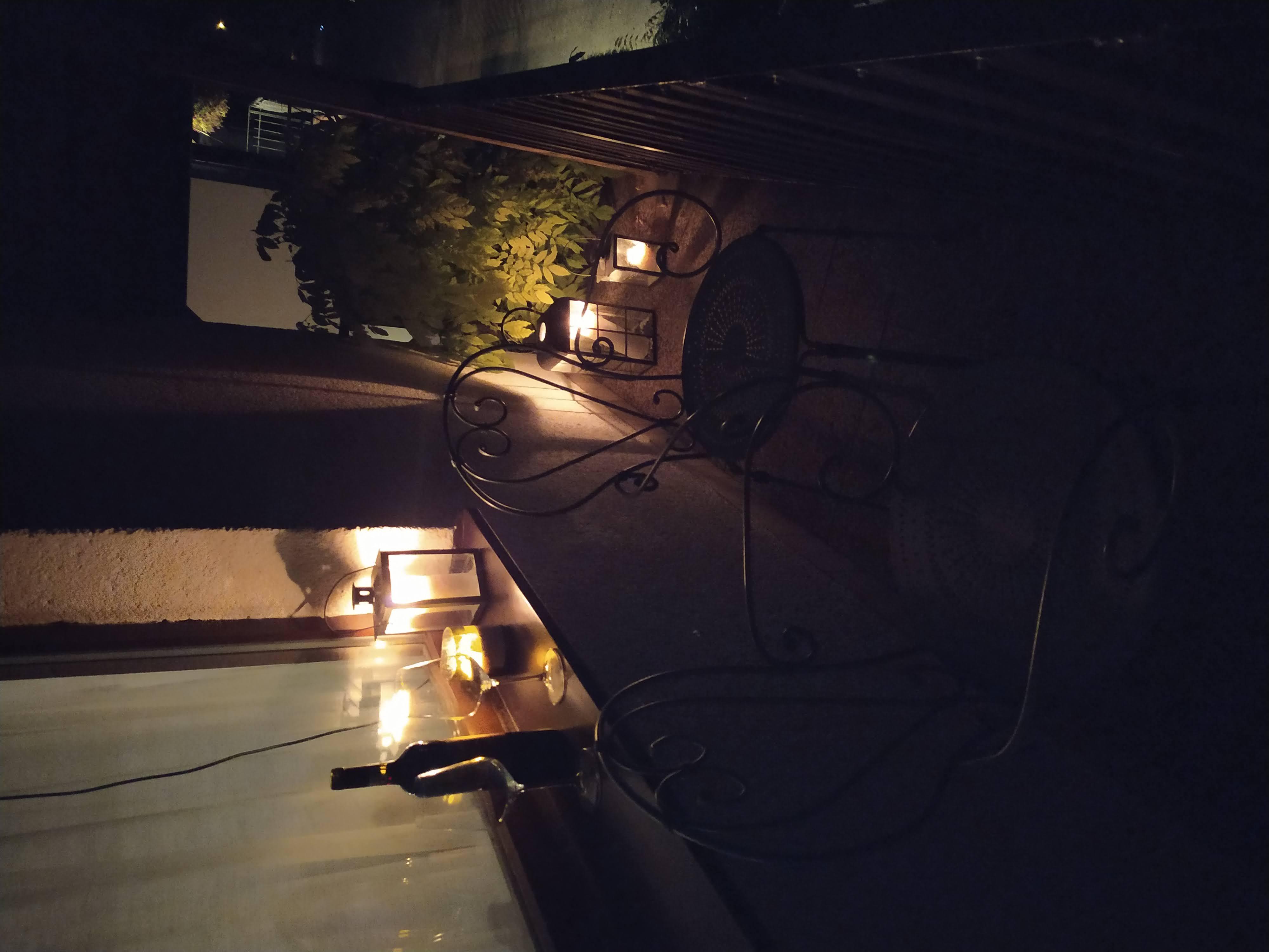 Večerní posezení na balkoně
